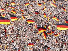 german people waving flags