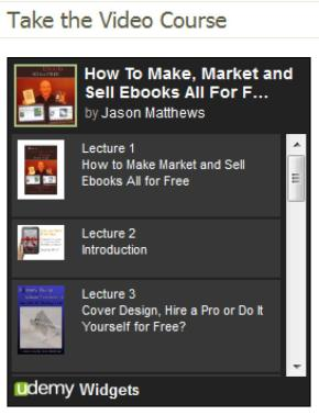 Udemy course How to Make, Market and Sell Ebooks All for Free