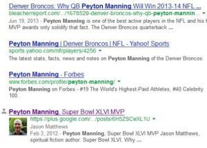 Peyton Manning Google Plus