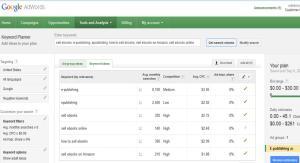 Google Keyword Planner from Keyword Tool