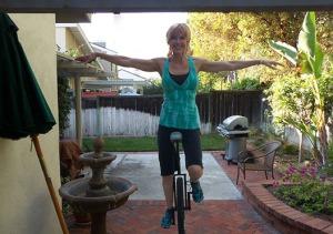 Sonia Marsh unicycle