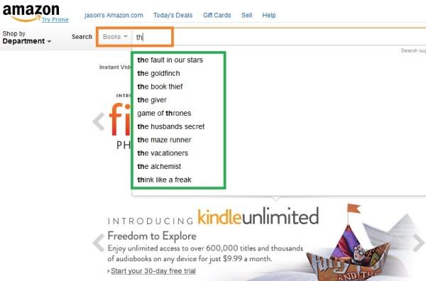 Amazon search engine 2