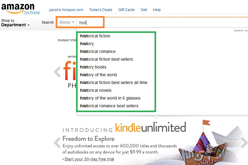 Playtime with Amazon's Search Engine and Selling Prompts