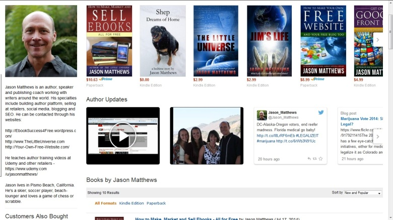 Amazon Author Central Oct 2014