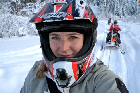 snowmobile girl rider