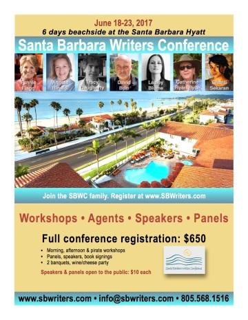 Join Me at SBWC Santa Barbara Writers Conference June 18-23